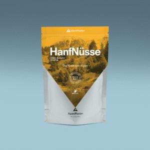 Die Schweizer Bio Hanfnüsse von AlpenPionier. Ideal in der Küche fürs Kochen mit Hanf.