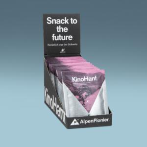 Kinohanf Mini 15er Box von AlpenPionier. Geröstete, gesalzene Hanfsamen.