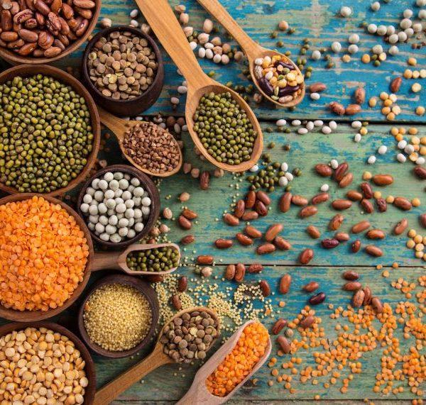 Ballaststoffe in Hülsenfrüchten und Hanf Lebensmitteln
